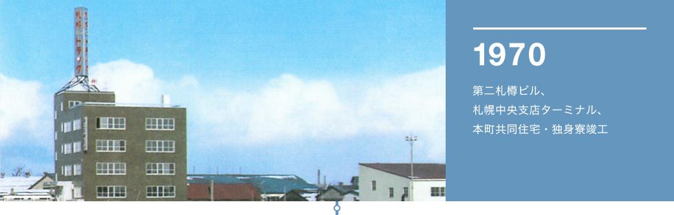 1970 第二札樽ビル、札幌中央支店ターミナル、本町共同住宅・独身寮竣工
