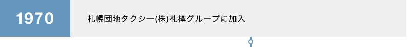 1970 札幌団地タクシー(株)札樽グループに加入